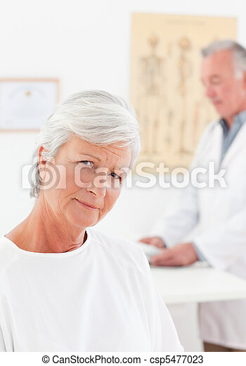 Patient looking at the camera - csp5477023