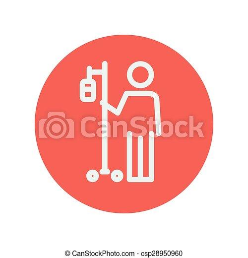 Patient thin line icon - csp28950960