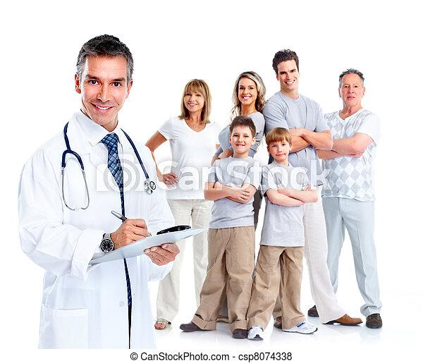 patients., médecin de famille - csp8074338