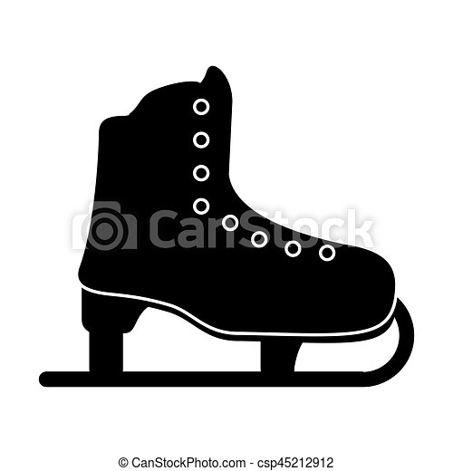 patin, sport, glace, loisir, pictogramme