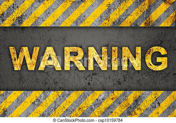 Patrón de flujo con texto de advertencia - csp10159784