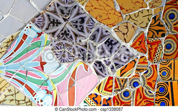 Patrón mosaico aleatorio - csp1338087