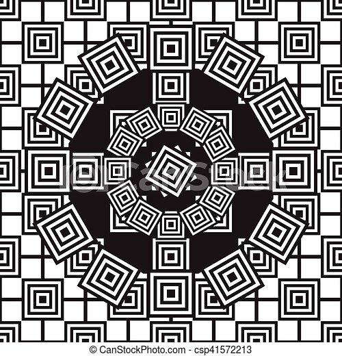 Patrón étnico blanco y negro sin costura - csp41572213
