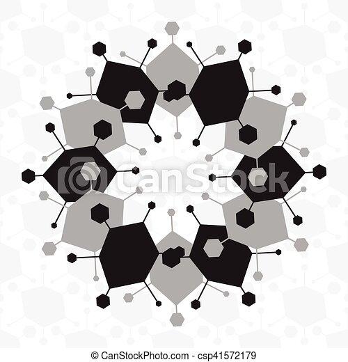 Patrón étnico blanco y negro sin costura - csp41572179