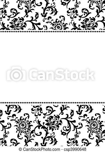 Patrón asiano vector y frontera blanca - csp3990648