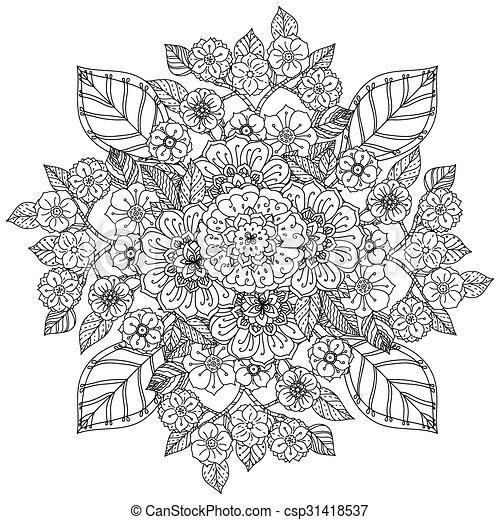Patrón para el libro de colorear. - csp31418537