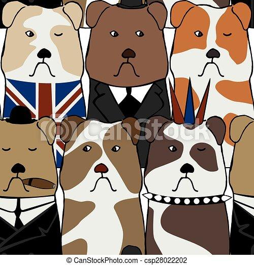 Patrón con bulldogs ingleses - csp28022202