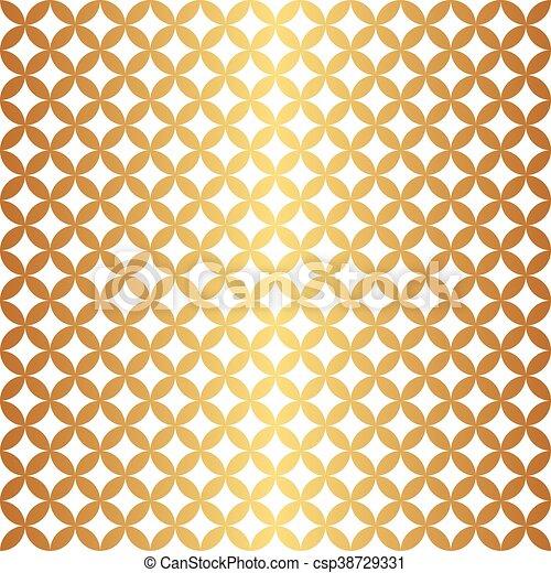 Un círculo de oro sin costura - csp38729331