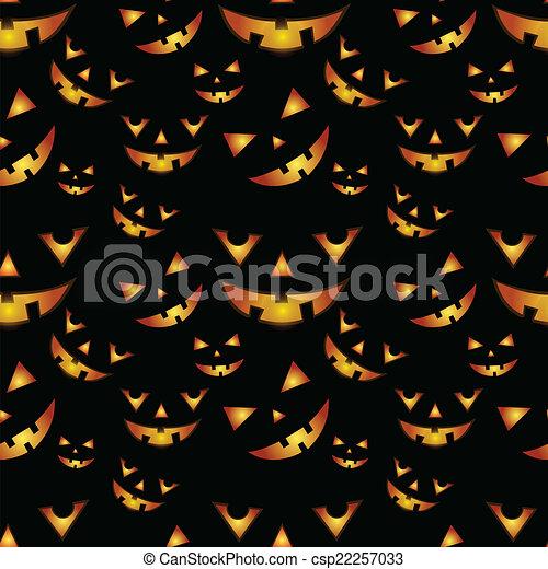 Patrón de calabazas de Halloween - csp22257033