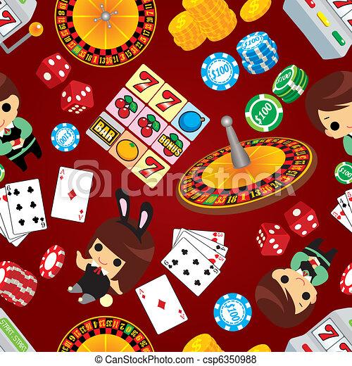 Patrón de casino sin daños - csp6350988