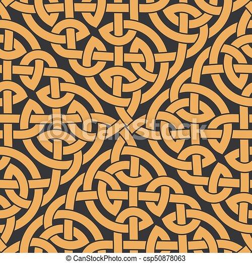 Patrón, celta, infinito, seamless, nudo. Celta, infinito, pattern ...