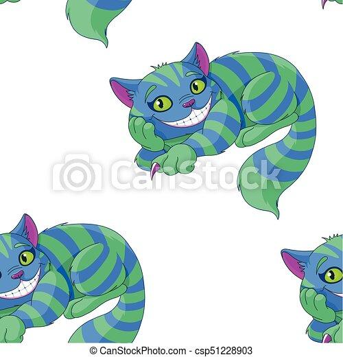 Patrón, cheshire, gato, ilustración, sentado clipart vectorial ...