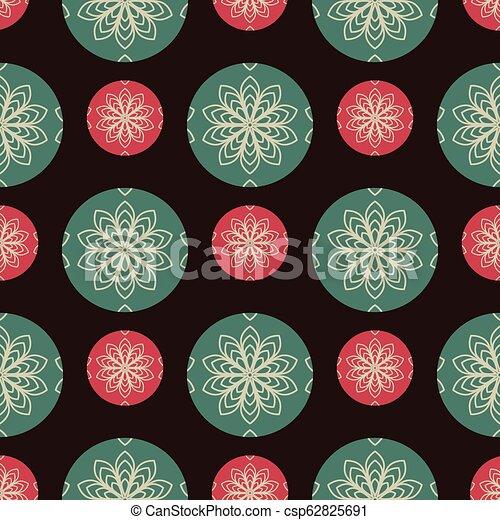 Trasfondo de diseño sin costura con balones de Navidad - csp62825691