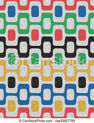 Patrón sin color, fondo mosaico - csp33827769