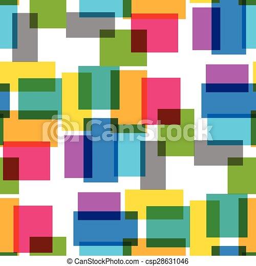 Cuadrado con gráficos transparencia sin costura - csp28631046