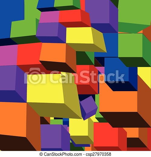 Patrón de cubo 3D - csp27970358