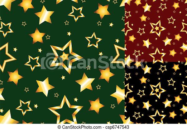 Patrón de estrellas de oro - csp6747543