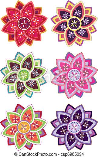 Patrón de flores - csp6985034
