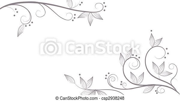 Viñas y flores - csp2938248