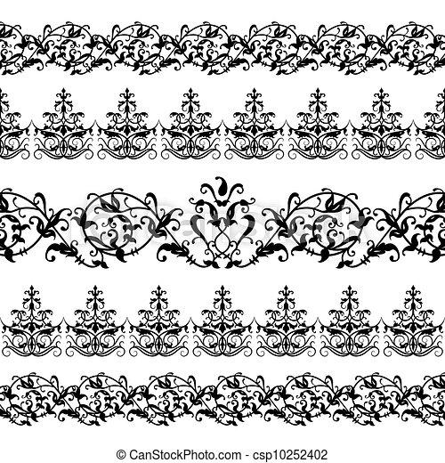 Patrón floral - csp10252402