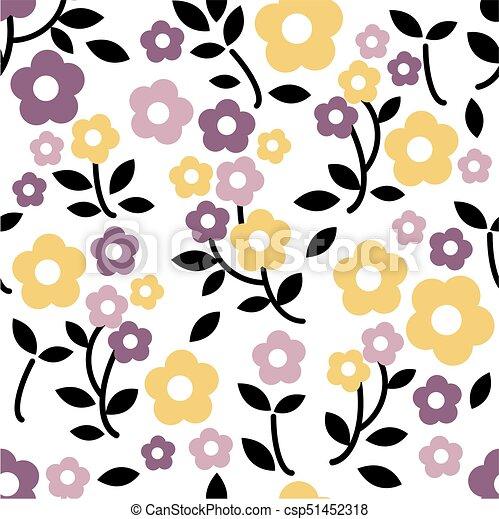 Fondo floral sin color - csp51452318