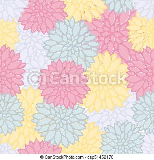 Fondo floral sin color - csp51452170