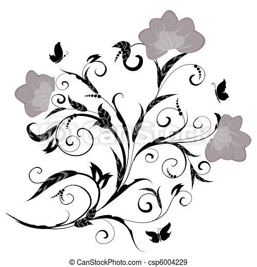 Patrón floral - csp6004229