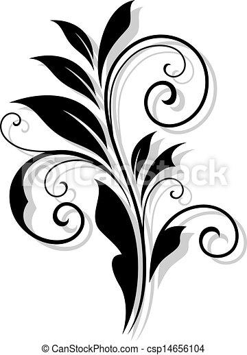 Abstrae el patrón floral al estilo retro - csp14656104