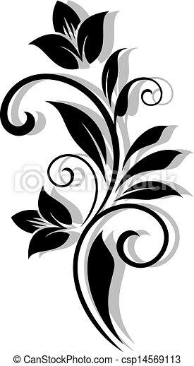 Un patrón floral abstracto - csp14569113