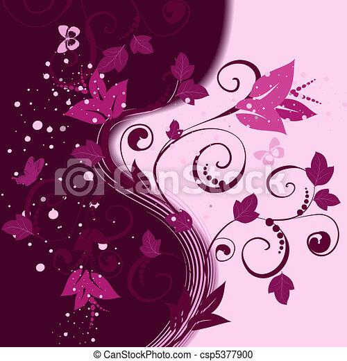Patrón floral de fondo abstracto - csp5377900