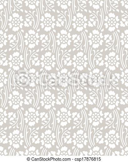 Patrón floral sin costura - csp17876815
