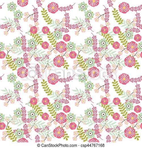 Patrón floral sin costura - csp44767168