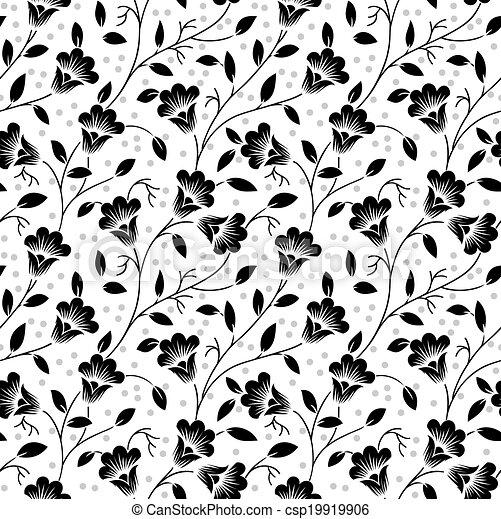 Patrón floral sin costura - csp19919906