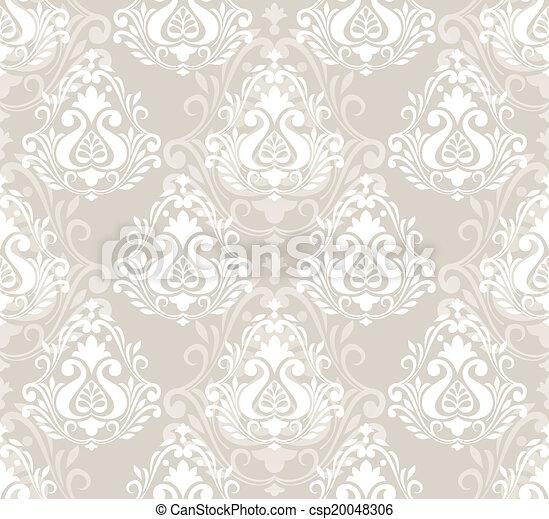 Damask un patrón floral sin costura - csp20048306