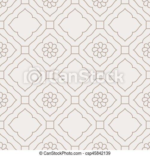 Damask un patrón floral sin costura - csp45842139