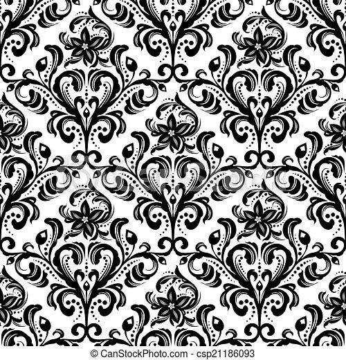 Patrón floral sin costura - csp21186093