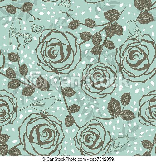 Patrón floral sin sentido - csp7542059