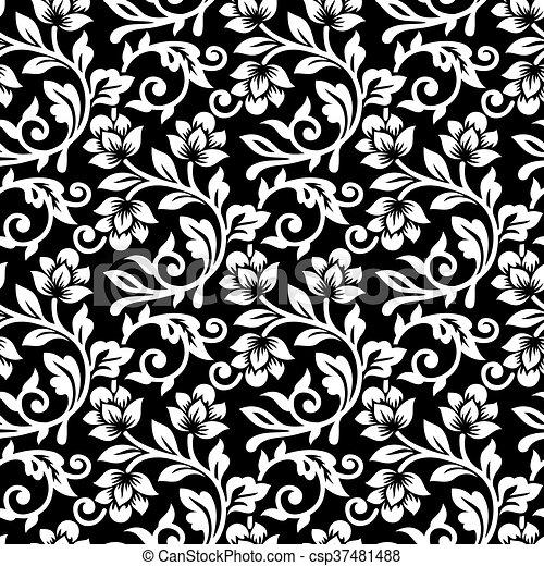 Patrón floral sin costura - csp37481488