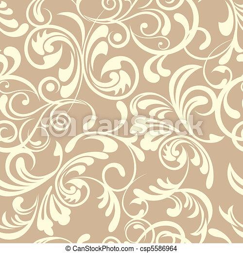 Patrón floral sin sentido - csp5586964