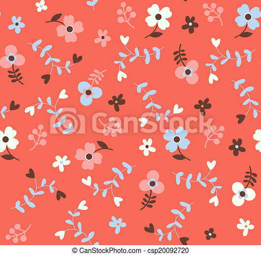 Patrón floral sin costura - csp20092720