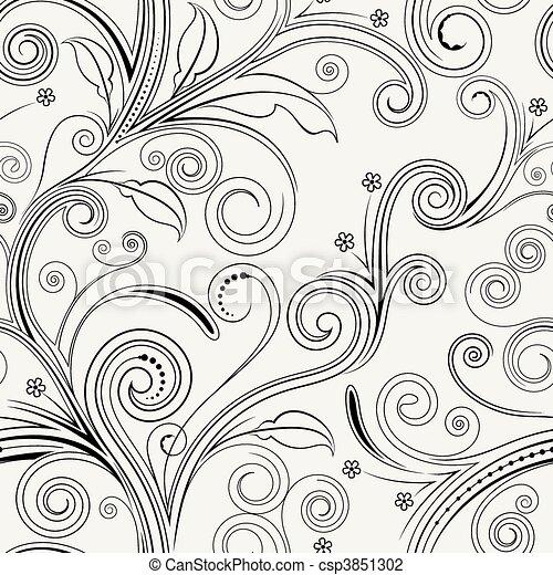 Patrón floral sin sentido - csp3851302