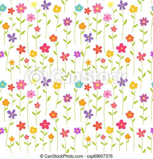 Flores coloridas de fondo sin marcas. - csp69607376