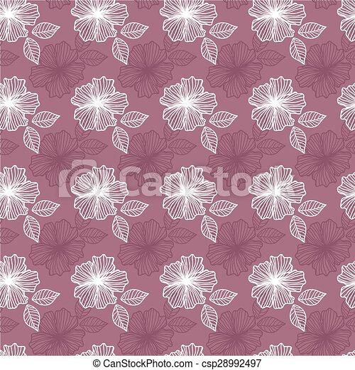 patrón, flores, seamless - csp28992497