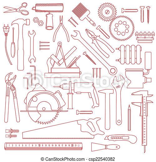 Patrón de herramientas - csp22540382