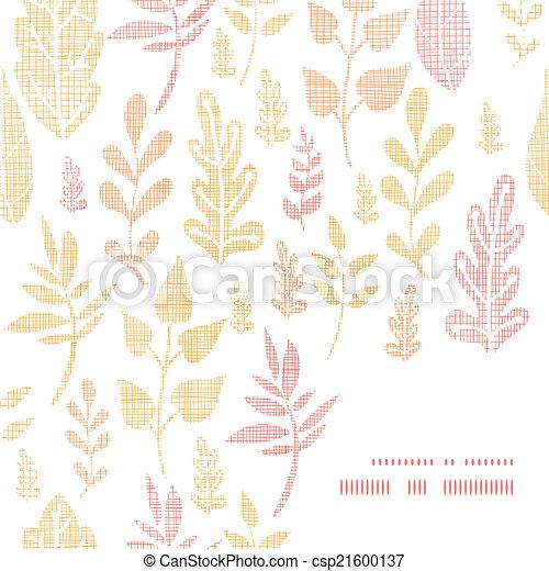 La textura textil de otoño deja un marco de fondo en la esquina - csp21600137