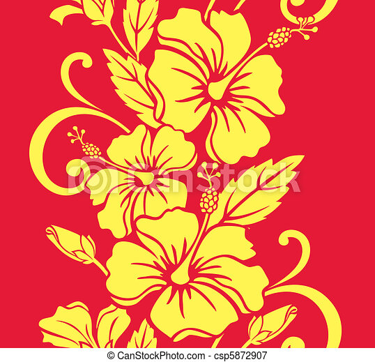 Patrón de hula hawaiano sin costura - csp5872907