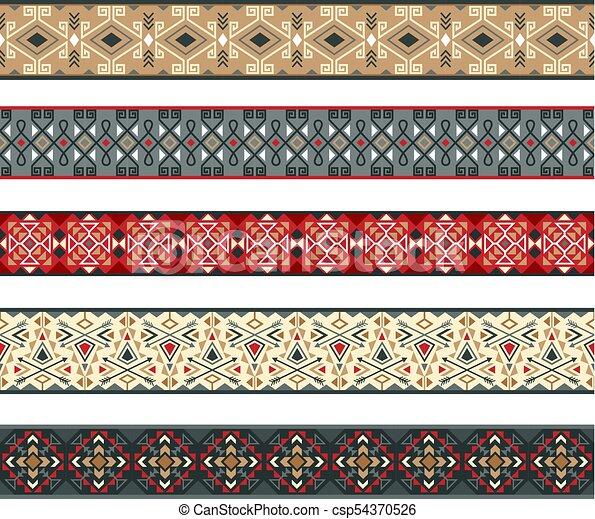 Lazos indios americanos establecidos - csp54370526