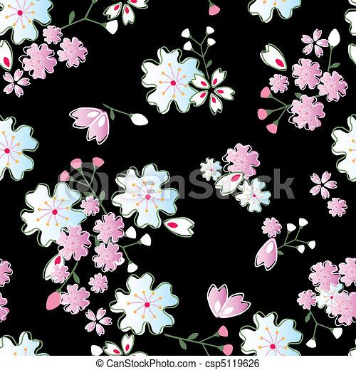 Los japoneses florecen - csp5119626