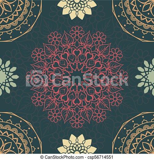 El colorido mandala sin fondo - csp56714551