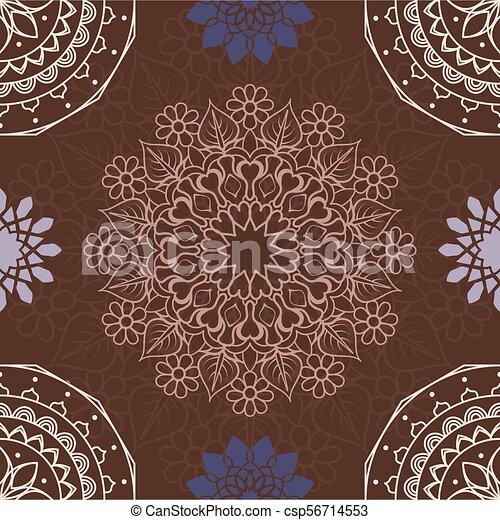 El colorido mandala sin fondo - csp56714553